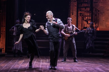 Hadestown Amber Gray Patrick Page Reeve Carney on Broadway 2019. Page will return in November 2021