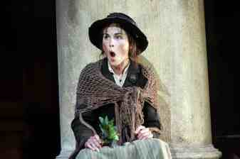 Michelle Dockery, best known as Lady Mary Crawley in the TV series Downton Abbey, portrayed Eliza in Pygmalion directed by Peter Hall at the Old Vic, 2008