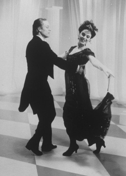 "Richard Chamberlain and Melissa Errico in a scene from the Broadway revival of the musical ""My Fair Lady,"" 1993"