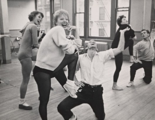 A fun moment in rehearsal for New Girl in Town, 1957. The two married three years later.