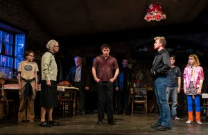 "The Ferryman Michael Quinton McArthur (Declan Corcoran), Ann McDonough (Aunt Patricia Carney), Fred Applegate (Uncle Patrick Carney), Terence Keeley (Diarmaid Corcoran), Ralph Brown (Muldoon), Jack DiFalco (Shane Corcoran), Collin Kelly-Sordelet (James Joseph ""JJ"" Carney), and Julia Nightingale (Shena Carney)"