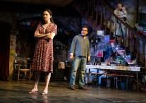 Holley Fain (Caitlin Carney), Brian d'Arcy James (Quinn Carney), and Emily Bergl (Mary Carney) holding Sean Frank Coffey (Bobby Carney)