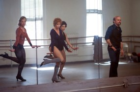 "FOSSE VERDON ""All I care About Is Love"" Episode 6 (Airs Tuesday, May 14, 10:00 pm/ep) -- Pictured: (l-r) Heather Lang as Sandy, Michelle Williams as Gwen Verdon, Bianca Marroquin as Chita Rivera, Sam Rockwell as Bob Fosse . CR: Michael Parmelee/FX"