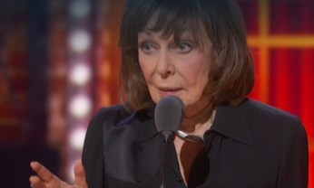 """My death was described onstage by Lucas Hedges so brilliantly.... He was so touching, that watching from the wings, I thought, 'I'm gonna win this guy's Tony!'"" -- Elaine May...at her Tony acceptance speech for best actress for her role in The Waverly Gallery"