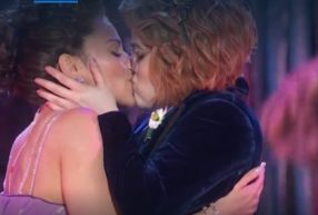 The lesbian kiss at the end of The Prom musical number, which caused less of a stir than it did during the Macy's Thanksgiving Day Parade