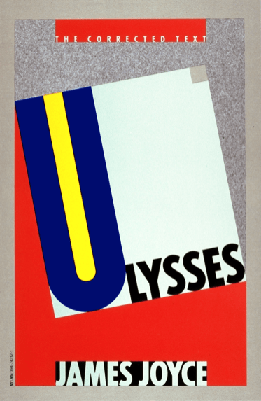 "Ulysses, 1986 edition. ""in this edition Walter Gabler uncovers previously unseen text."""