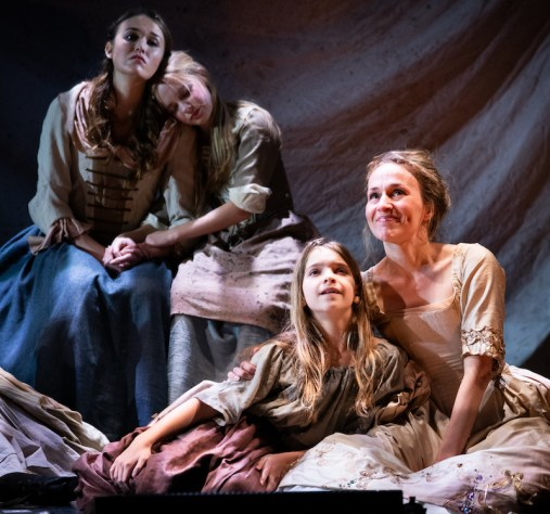 Ladyship 4 Maddie Shea Baldwin (Alice Reed), Caitlin Cohn (Mary Reed), Noelle Hogan (Kitty), and ennifer Blood (Lady Jane Sharp) LadyShip_photo by Russ Rowland