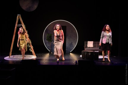 Sarah-Anne Martinez (Lilith), Gabrielle McClinton (Eve), and Janet Krupin (Lily) in Leaving Eden_Photo by Michael Blase