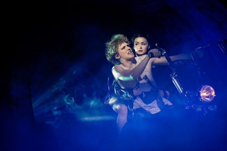Andrew Polec as Strat and Christina Bennington as Raven in Bat Out of Hell The Musical Photo credit Little Fang Photo