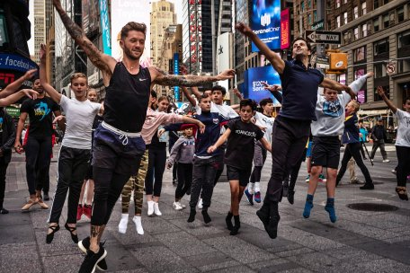 Dance class in Times Square