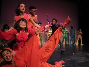 Developing Artists and Vineyard Theatre Student Ensemble performing The Spectacular at Rebel Verses