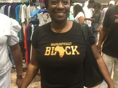 A person attending the 2019 National Black Theater Festival