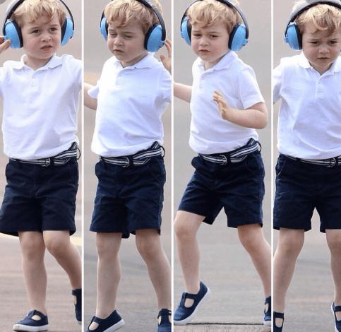 Prince George dancing