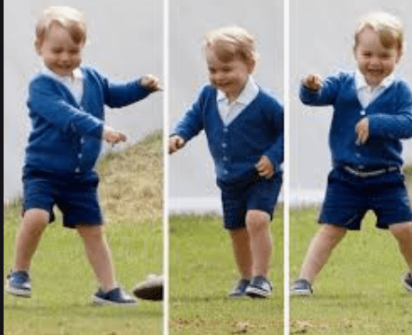 Prince George dancing at age 2