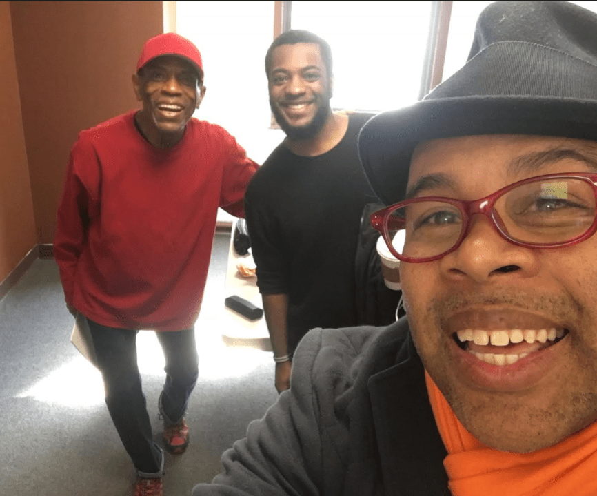 """A Hill On Which to Drown"" actor André De Shields, director Zhailon Levingston, and playwright Kevin R. Free"