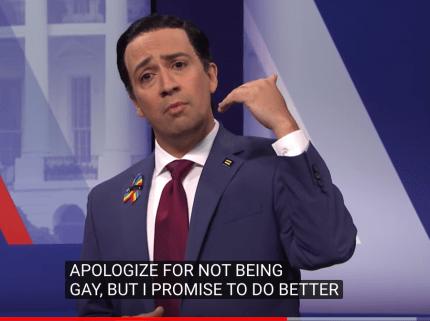 Lin-Manuel Miranda as Julian Castro on Saturday Night Live