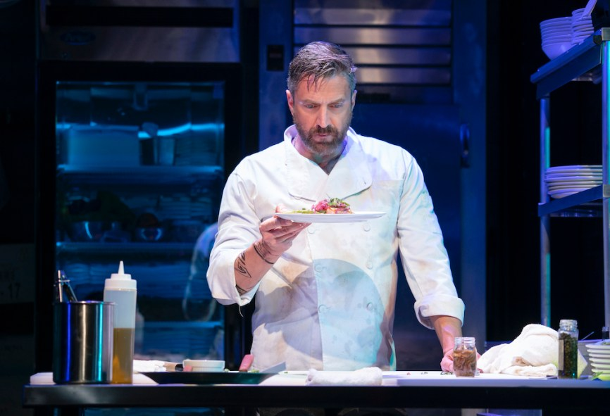"Raul Esparza as a temperamental chef in ""Seared"""