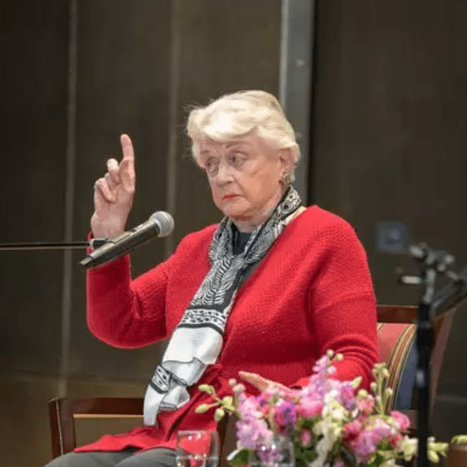 Angela Lansbury at Lincoln Center library