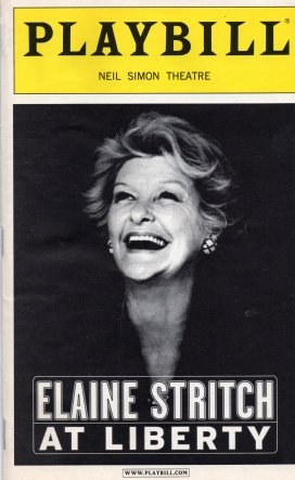 Elaine Stritch At Liberty Playbill