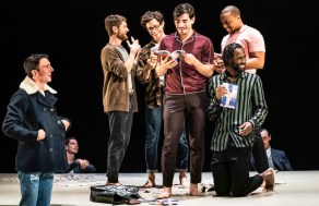 Samuel H. Levine as Adam, Kyle Soller as Eric, Kyle Harris as Jasper, Arturo Luís-Soria as Jasper2, Jordan Barbour as Tristan, and Darryl Gene Daughtry Jr. as Jason1
