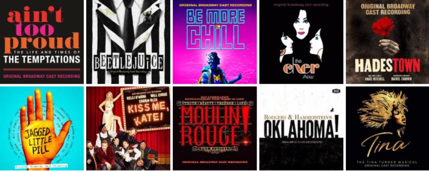 Broadway cast albums 2019