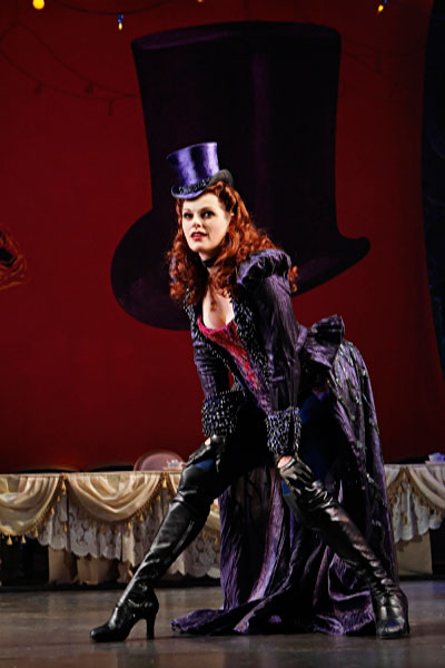 Kate Shindle as the Mad Hatter in Wonderland