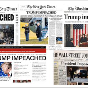 Newspaper headlines on impeachment