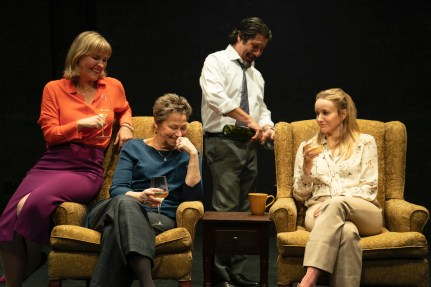 Kelly McAndrew as Sylvia, Randy Danson as Linda, Triney Salvador as Jerry, Emily Cass McDonnell as Hilda