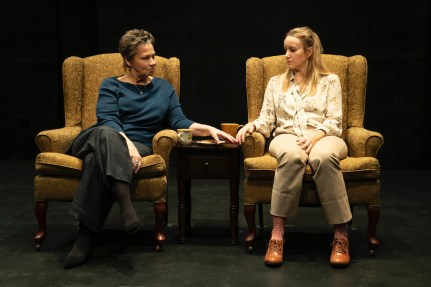Randy Danson as Linda, a medium and Emily Cass McDonnell as her friend Hilda