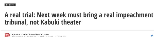 Daily News kabuki headline
