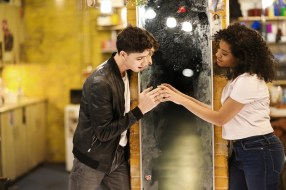 Isaac Powell and Shereen Pimentel as Tony and Maria
