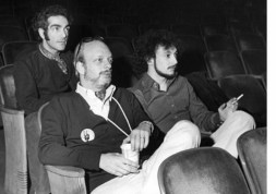 "Bob Avian, Hal Prince and Michael Bennett watching a rehearsal in Boston of ""Company"""