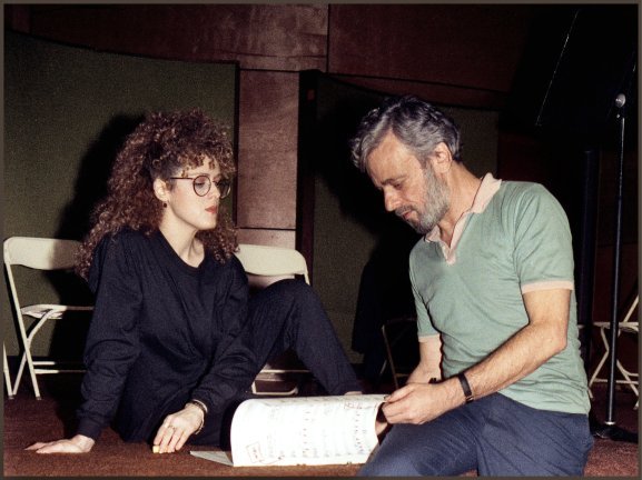Sondheim with Bernadette Peters in 1989 Into The Woods