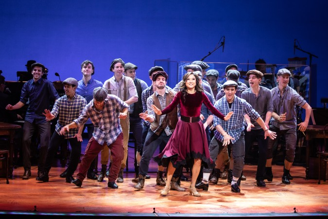 "Ashley Park with 18 ""Newsies"" on 25th anniversary of Disney on Broadway special"