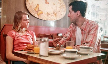 Jodie Foster and Robert De Niro in Taxi Driver, on Netflix