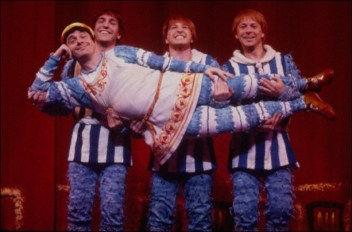 A Funny Thing Happened on the Way To The Forum, 1996; Nathan Lane, held by Brad Aspel, cory English and Ray Roderick