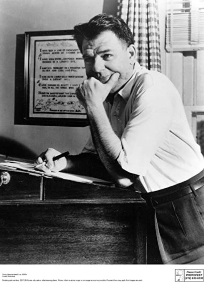 Oscar Hammerstein II at his desk