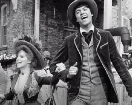 with Barbra Streisand in the movie 'Hello, Dolly""