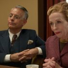 Joe Mantello and Holland Taylor as studio executives in Hollywood on Netflix