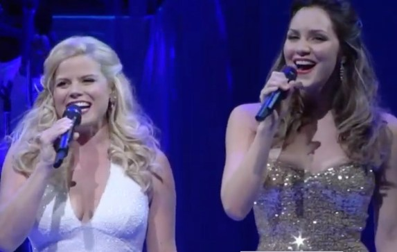 Megan Hilty and Katharine McPhee at the 2015 Bombshell concert