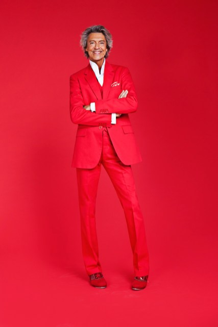 Tommy-Tune in trademark red suit -Franco-Lacosta