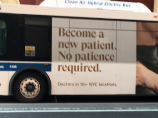 bus ad for new patients