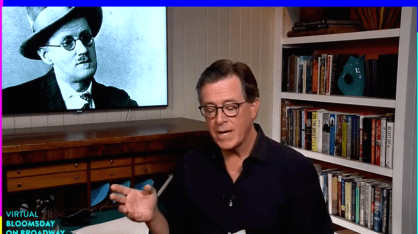 Stephen Colbert launching Symphony Space's 39th annual Bloomsday on Broadway a
