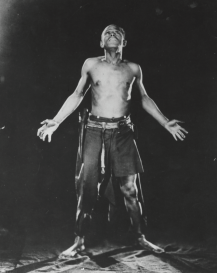 Charles Gilpin in the stage production The Emperor Jones, 1920.