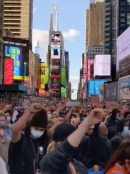 Times Square protesters