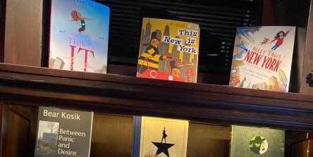 Bravo's Book Nook coffee table books about NY and the theater