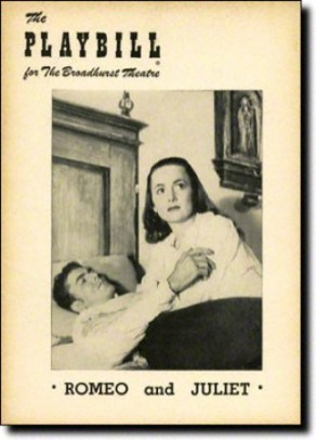 Romeo and Juliet Playbill with de Havilland