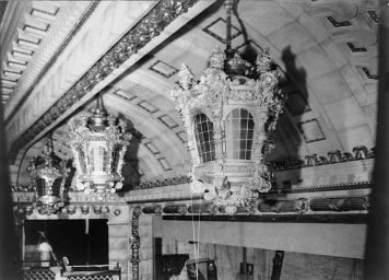 "The interior of the Astor Theater, built in 1906 as part of the Astor Hotel. It was the house that presented the play ""Why Mary?,"" which won the first Pulitzer Prize for drama,"