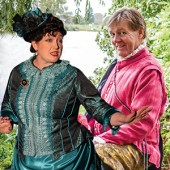 "At the Ghostlight Blue Fire Theatre Co. An Elizabethan Superstar and a heroine of Music Hall meet at the theatre ghostlight and have a ""water cooler moment"". Whilst they muse over their life choices, the stars of their rivals, Will Shakespeare and Marie Lloyd shine ever brighter. @bluefire_tc"