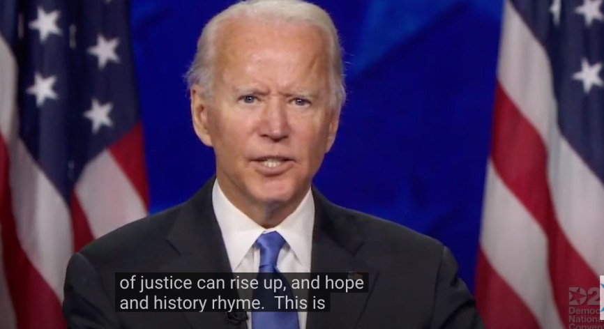 Joe Biden quoting Seamus Haney
